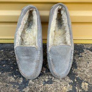 UGG Ansley Loafer Slipper Moccasin Light Grey